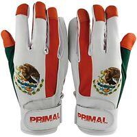 MEXICO Flag Adult Men's Baseball Batting Gloves Size Small