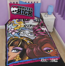 Monster High Beasties Panneau Simple Housse de couette bed set nouveau cadeau