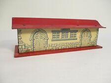 Hafner Freight Station Glen Ellyn Tin Litho Red Roof O Gauge X4559