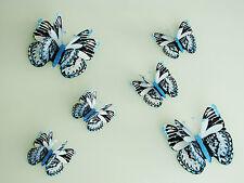 6er Set 3D Schmetterlinge Wandtattoo Wanddeko Wandtatoo Wandaufkleber GHB_012