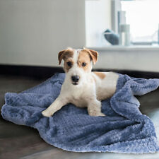 Soft Fleece Dog Blankets for Large Dogs Washable Kennel Sofa Throw Blanket Gray