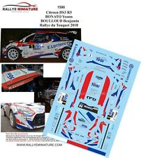 DECALS 1/43 REF 1590 CITROEN DS3 R5 YOANN BONATO RALLYE DU TOUQUET 2018 RALLY