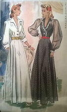 Vintage  40's McCALL's 4290 DINNER EVENING DRESS GOWN Sewing Pattern