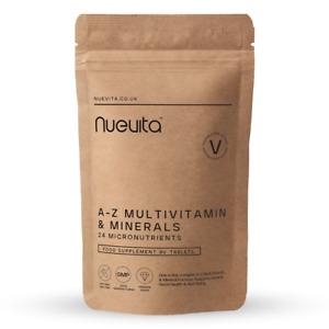 Multi Vitamins & Minerals A-Z Tablets 100% RDA - 90 Vegan Tablets - One A Day