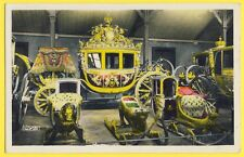 cpa VERSAILLES CARRIAGE used for the CORONATION of KING CHARLES X Carrosse Luges