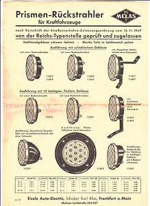 Werbe Blatt Melas Prismen Rückstrahler Rücklicht für Moped Motorrad Fahrrad (D7