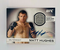 MATT HUGHES 2012 Topps UFC Knockout Autograph Fighter Gear Relic Card #'d /150