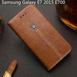 For Samsung Galaxy E7 2015 E700 Slot Wallet Cover 5.5'' Pu Leather Phone Case