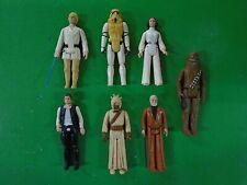 Star Wars Kenner 1977 Lot of 7 Figures Luke Solo Obi Wan Leia Chewbacca Vintage