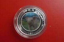 *Top Selten! Australien  1 Dollar Silber 2009 PP/ Farbe Hologram*Lunar - Schwein