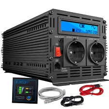 Inversor Onda Pura 2000w 4000w 12v a 220v 230v Convertidor Transformador LCD