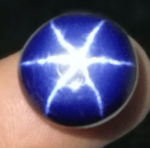2.40 Cts Natural 6 Rays Blue Star Sapphire Round Shape Certified Gemstone