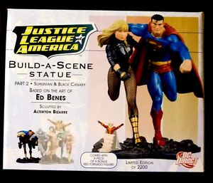 JLA  Build A Scene Statue Part #2 New 2008 Superman Black Canary DC Amricons