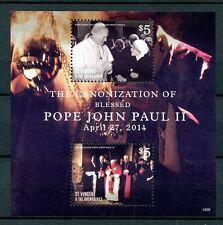 ST. Vincent & GRENADINES 2014 Gomma integra, non linguellato canonizzazione Papa Giovanni Paolo II 2v S/S I FRANCOBOLLI