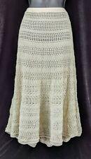 Chico's Skirt Poncho Poncho Cream Pointelle Chino Open Knit  Women's Size L/XL