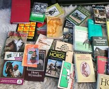 27 horse care and training books plus folder of dressage tests