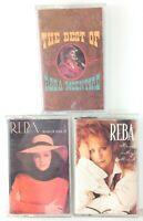 Lot of 3 Vintage REBA MCENTIRE Cassette Tapes - Read My Mind, Rumor & Best of