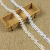 12m Retro Ivory Cream Lace Trim Ribbon Bridal Wedding Craft Cotton Crochet DIY