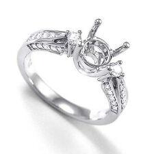 Ring Semi-Mount Ring 4 to 9 R1206. 950 Platinum .40 Cwt G-Vs2 Diamond Engagement