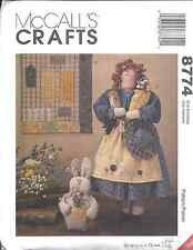 "8774 UNCUT McCalls Sewing Pattern Craft 19"" Garden Doll Quilt 8"" Bunny FF Spring"