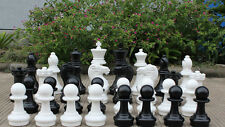 """Giant Plastic Chess Set with a 16"""" King - Garden Chess Set - Outdoor Chess Set"""