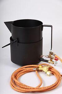Gaskocherset - Bitumenkocher klein ideal für Dachdecker, Klempner,Straßenbau usw