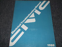 1988 Honda CIVIC Electrical Troubleshooting Wiring Service Shop Repair Manual