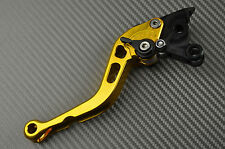 Leviers levers court short CNC gold or Kawasaki ZX6R ZX636R ZX6RR	2000 01 02