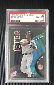 1999 Skybox E-X Century #9 Derek Jeter PSA 8 HOF New York Yankees