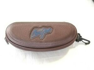 MAUI JIM Hard Shell Glasses Sunglasses Case Clam Style Unisex Brown