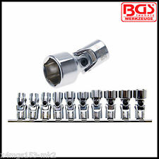 "BGS - 3/8"" Drive Universal Joint Socket Set, 10 - 19 mm - Pro Torque, Pro - 205"