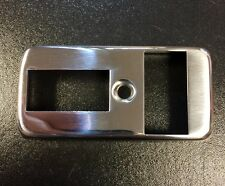 Indicator switch cover in stainless steel for Vespa PX early type (2 cut outs)