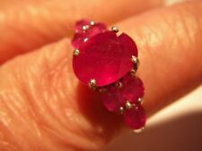 Cocktail Ruby Sterling Silver Fine Rings