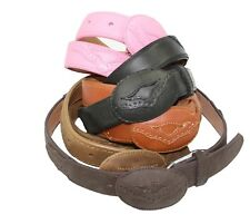 Kids Genuine Cowhide Leather Kids Solid Rodeo Belt with removeable Buckle