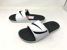 Mens Nike (834818-101) Kawa Adjust White/Black Slides (447K-L)