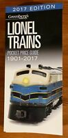 Greenberg's Guides 2017 Edition Lionel Trains Pocket Price Guide 1901-2017