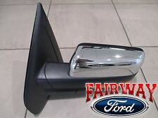 11 thru 14 F-150 OEM Ford Power Fold Heat Signal Puddle Mirror LH Driver Chrome
