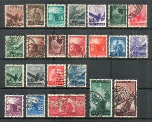 """ITALIA 1945-48 """"DEMOCRATICA"""" SERIE CPL. 23 VAL. USATI"""