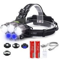 Rechargeable Torch Lamp Flashlight 90000LM 5X XM-L T6 Head Light LED Headlamp