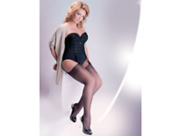 nylonandmore Gabriella Straps-Strümpfe Calze Plus Size 15DEN XL-XXL Code 166