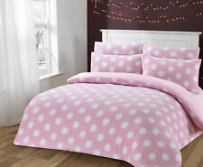 Soft Sherpa Fleece Polka Dotty Duvet Cover Set
