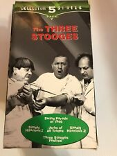 THE THREE STOOGES Collector Series 5 Pack VHS 1998 Comedy Box Set 1