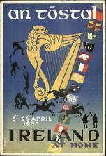 Ireland 1953 Festival Poster Art SPORTS Polo Boxing Basketball AN TOSTAL xst