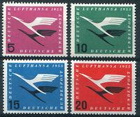 Bund 205 - 208 sauber postfrisch Flugdienstbeginn Lufthansa BRD 1955 MNH