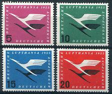 Bund 205 - 208 ** sauber postfrisch Flugdienstbeginn Lufthansa BRD 1955 MNH