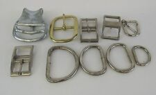 Hobby Craft Belt Buckle Assorted 10 Buckles Leather Working Buckles