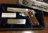 Tokyo Marui Colt Government Mark IV Series 70 Nickel Finish Gas Blow Back Gun