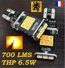 2 x T15 W16W WY16W LED THP 700lm 15SMD 1800k AMBRE 12V 6,5W CLIGNOTANTS 3008