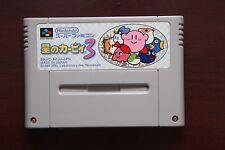 Super Famicom Star Kirby 3 Japan SFC game US seller