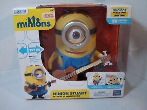 Minion Movie. New Talking Singing Stuart with Interactive Guitar. Despicable Me